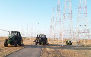 Desbroce de los centros emisores de RTVE en Noblejas